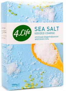 Морская соль 4LIFE крупная йодированная, 1 кг