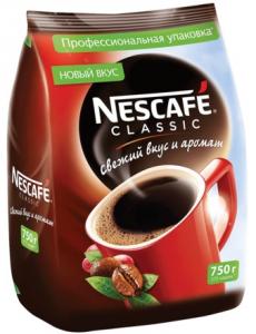 Кофе растворимый НЕСКАФЕ КЛАССИК пакет 750 гр.
