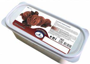 Контейнер пломбир шоколадный 2.2 кг. Петрохолод