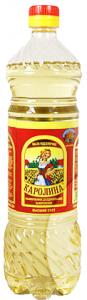 Масло подсолнечное рафинированное дез. 0,9 л.ТМ Каролина