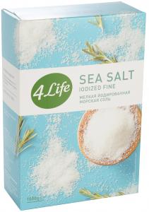 4Life Соль морская йодированная мелкая 1кг