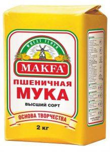 Мука пшеничная высший сорт 2 кг. ТМ Макфа