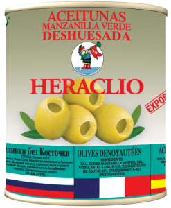Оливки зеленые без косточки ж/б 3 кг. ТМ HERACLIO Испания