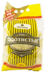 Рис золотистый длиннозерный 3 кг. ТМ Ангстрем