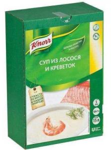 Суп-пюре лосось с креветками 1,8 кг. ТМ KNORR