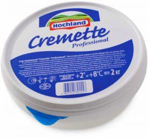 Сыр творожно-сливочный 2 кг. Cremette Professional Hochland