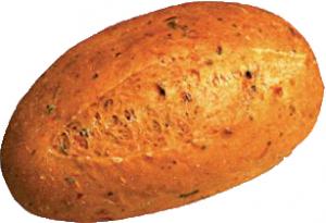 Булочка с томатом и базеликом ЕвроХлеб 40 гр. /80/