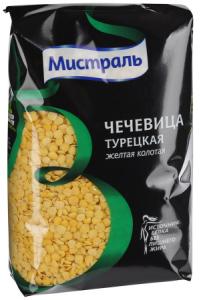 Чечевица желтая 450 гр. ТМ Мистраль