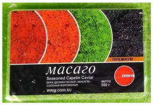 Икра Масаго зеленая  500 гр.ТМ OSHI