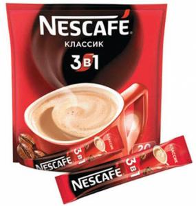 Кофе растворимый 3 в 1 классический 16 гр./20 шт.ТМ НЕСКАФЕ