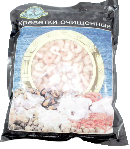 Креветки очищенные в/м 200/300 1 кг.  ТМ Бухта изобилия Россия