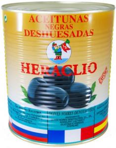 Маслины черные без косточкиж/б 3 кг. ТМ HERACLIO  Испания