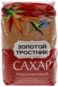 Сахар тростниковый коричневый песок 900 гр. ТМ Золотой тросник