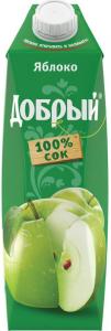 Сок яблочный  1 литр ТМ Добрый
