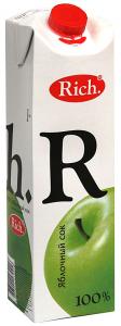 Сок яблочный 1 литр ТМ РИЧ