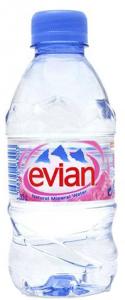 Вода минеральная без газа 330 мл. ПЭТ /24 шт./ ТМ ЭВИАН