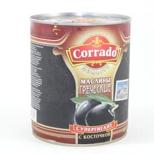 Маслины черные гигант с косточкой 820 гр.