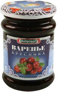 Варенье  эко-продукт брусника 326 гр.