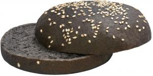 Булочка для гамбургера с чернилами каракатицы 75 гр./20шт/ ТМ