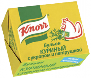Бульонные кубики  в ассортименте 48шт/уп ТМ KNORR
