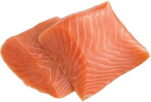 Филе лосося слабой соли в/у вес.