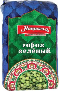 Горох зеленый колотый 450 гр. ТМ Националь