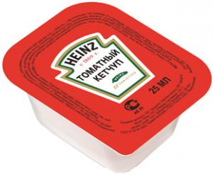 Кетчуп томатный порционный ТМ HEINZ 25 гр. /125 шт./