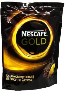 Кофе растворимый НЕСКАФЕ ГОЛД пакет 250 гр.