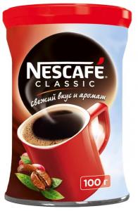 Кофе растворимый НЕСКАФЕ КЛАССИК ж/б 100 гр.