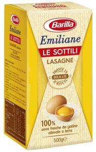 Лазанья яичная барилла 500 гр.