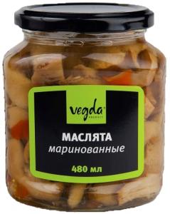 Маслята маринованные ст./б 500 мл. ТМ VEGDA