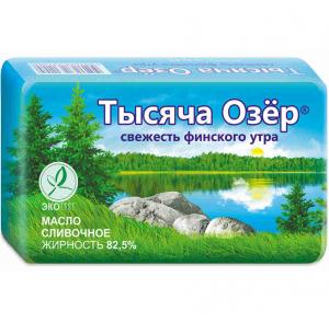 Масло сливочное 82,5% 400 гр. ТМ Тысяча озер