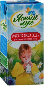 Молоко 3.2% 1 тетрапак 1 литр. ТМ Хорошее дело