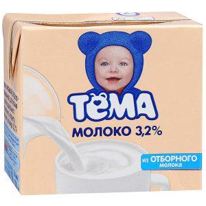 Молоко 3.5 % с кальцием 500 мл. ТМ Тёма