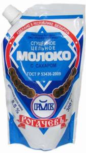 Молоко сгущенное с сахаром дой-пак 300 гр. ТМ Рогачев