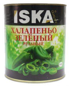 Перец зеленый Халапеньо резаный кружочками ж/б 3.1 кг. ТМ ISKA