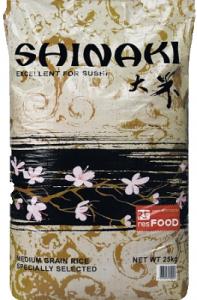 Рис для суши отбеленный 25 кг.ТМ ШИНАКИ