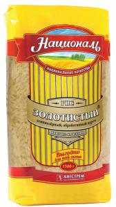 Рис золотистый длиннозерный 1.5 кг. ТМ Националь