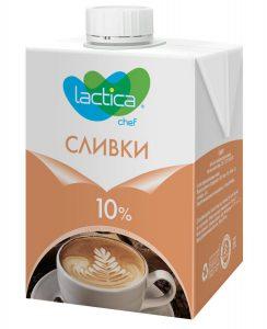 Сливки натуральные 10% 1 литр ТМ Лактика