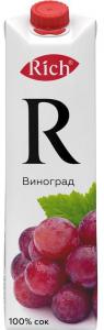 Сок Виноградный красный Рич  1л