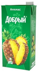 Сок ананасовый 2 литра ТМ Добрый