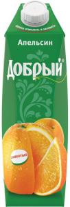Сок апельсиновый 1 литр ТМ Добрый
