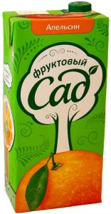 Сок апельсиновый Фруктовый сад 1,93 л.