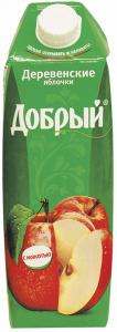 Сок деревенские яблочки 1 л. ТМ Добрый