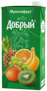 Сок мультифрут 2 литра ТМ Добрый