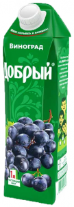 Сок виноград 1 литр ТМ Добрый