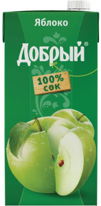 Сок яблоко 2 литра ТМ Добрый