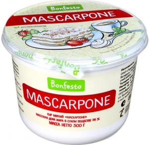 Сыр Маскарпоне 78 % 500 гр. ТМ Бонфесто