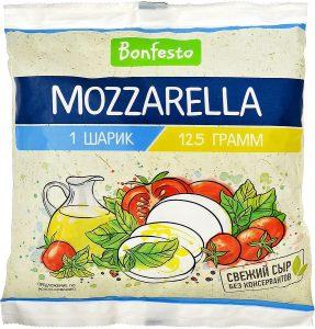 Сыр Моцарелла в рассоле 1 шар 125 гр.ТМ Бонфесто
