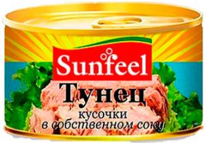 Тунец кусочки ж/б 170 гр. ТМ SANFEEL